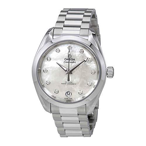 Omega Seamaster Aqua Terra Mother of Pearl Diamond Dial Ladies Watch 220.10.34.20.55.001