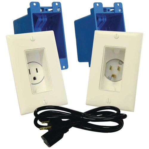 MIDLITE A46-LA Decor Recessed Receptacle & Power Inlet Kit (Light Almond) electronic consumer (Kits 56004)