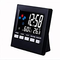 ThreeH Digital Alarm Clock 2159T Multi-Function Thermometer and Hygrometer Clock,Voice Control Weather Color Screen…