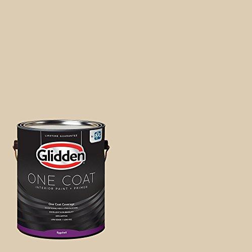 Glidden Interior Paint + Primer: Beige/Seriously Sand, One Coat, Eggshell, 1-Gallon