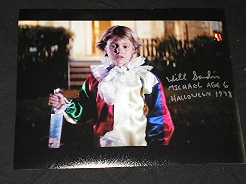 WILL SANDIN Signed 1978 Halloween 8x10 Michael Myers Age 6 -