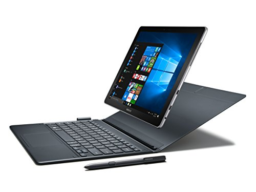 "Samsung Galaxy Book 12"" Windows 2-in-1 PC (Wi-Fi) Silver, 8GB RAM/256GB SSD, SM-W720NZKAXAR by Samsung"