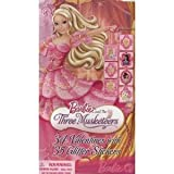 Barbie and The Three Musketeers 34 Valentines with 35 Glitter Stickers