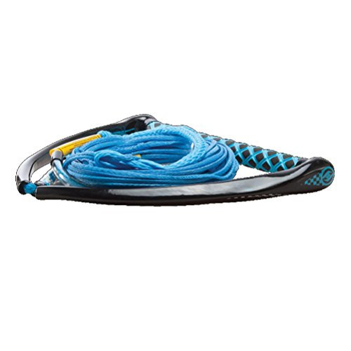 Hyperlite Apex PE EVA Handle with Maxim Rope for Waterski Boat - Yellow, Blue, White, Red
