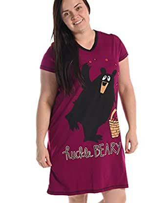9910023902 Lazy One LazyOne Women s Huckleberry Fitted Nightshirts