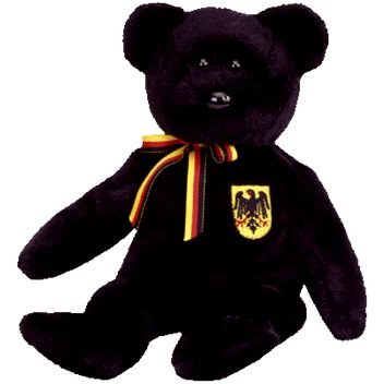 565aeb3f8b4 Image Unavailable. Image not available for. Color  TY Beanie Baby -  FREIHERR VON SCHWARZ the Bear (Germany ...