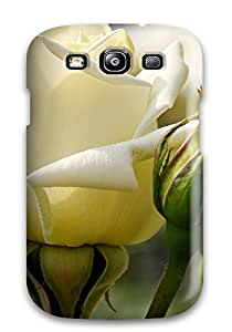 Cute High Quality Galaxy S3 White Rose Case