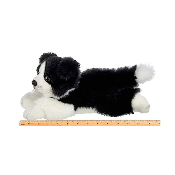 Bearington Shep Plush Border Collie Suffed Animal Puppy Dog, 13 Inches 5