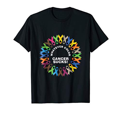 Whatever Color Cancer Sucks Fight Cancer Ribbons -
