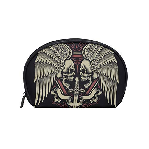 Makeup Bag Fly Angel Devil Skull Face Cosmetic