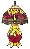 Red Dragonfly Tiffany Lamp Double Lit