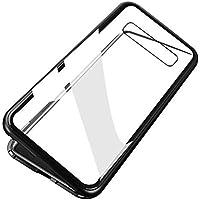 Lyperkin Estuche para Samsung Galaxy S10 / S10 Plus, Cubierta de Estuche de adsorción magnética de Vidrio de Parachoques de Metal Estuche Antideslizante Estuche Protector 360 ° para Todo el Cuerpo