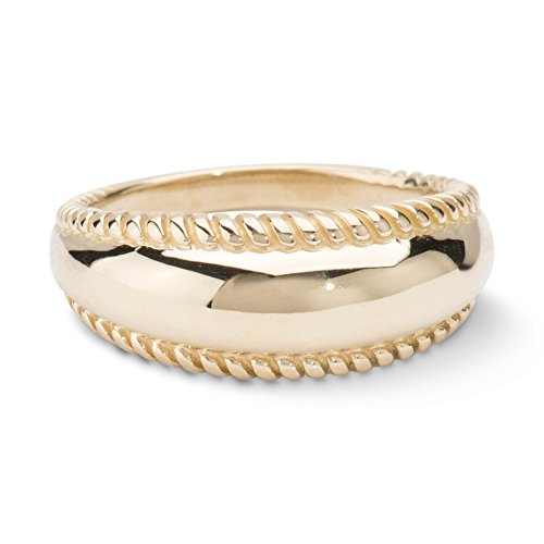 Carolyn Pollack Brass Rope Edge Band Ring Sizes 9