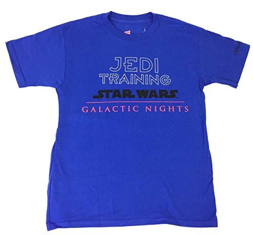 Jedi Training Disney (DisneyParks Star Wars Jedi in Training Galactic Nights Shirt Boys Girls Youth (Medium))