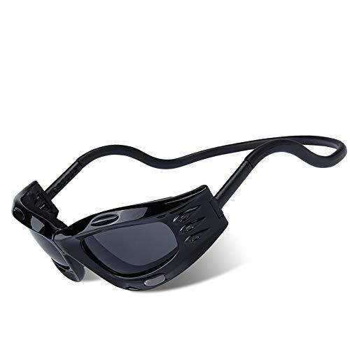 zbtore Outdoor Glasses Magnetic Buckle Windproof Dustproof Goggles Sunglasses, Gray Mercury, Bright Black