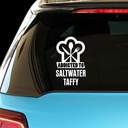 (PressFans Addicted to Saltwater Taffy Food Drink Vegetable Car Laptop Wall Sticker)