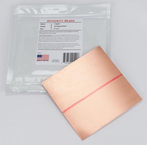 Copper 16 Gauge Sheet - 6