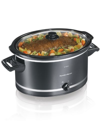 Hamilton Beach 755263231981 (33182A) Slow Cooker, 8 Quart, Black