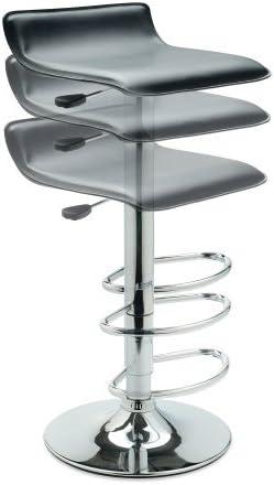 jersey seating Vinyl Bar Stool W Adjustable Height Air Lift Swivel 2002 Black