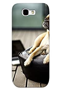 Design For Galaxy Note 2 Premium Tpu Case Cover Feel Likebusiness Pug Protective Case