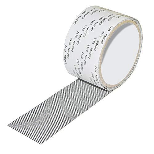 LEKNES Screen Repair Kit,Door Window Screen Repair Tape Fiberglass Covering Mesh, 3-Layer Strong Adhesive & Waterproof Repair Holes Tears - Black (2 Wx79.4 L)