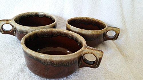 Vintage Brown Drip Glazed Soup Bowl WS