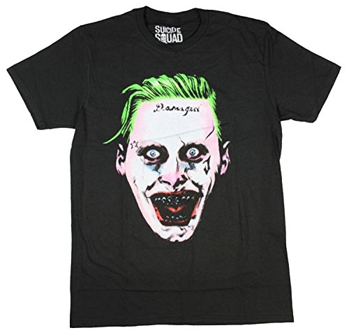 Bioworld DC Comics Suicide Squad Men's Creepy Joker T-Shirt (Medium)