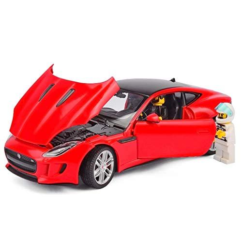 GCM Jaguar Sports Car Model Alloy Car Model Racing Simulation Metal Car Model Collection Ornaments ( Color : Red )