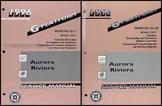 1996 Olds Aurora & Buick Riviera Repair Shop Manual Original 2 Volume ()