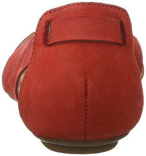 Shoe Biz Sandal Flat, Sandalias con Cuña para Mujer Rojo (Nubuk Red)