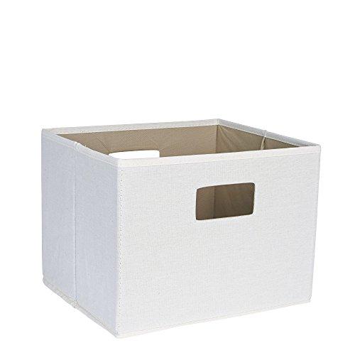 Household Essentials 119 Open Storage Bin with Handles - Beige Canvas
