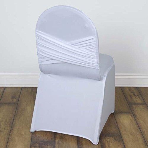 efavormart 50個Madrid宴会椅子カバー用ウェディングイベントパーティーBanquets  ホワイト B077TH9QTF