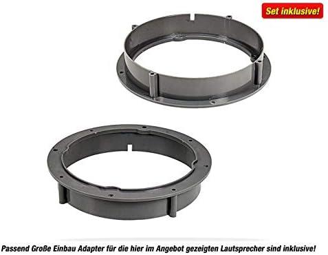 Zero Front//Heck 16,5 cm//165 mm Kit Complet Haut-Parleur pour VW Passat CC//B6//B7 GR