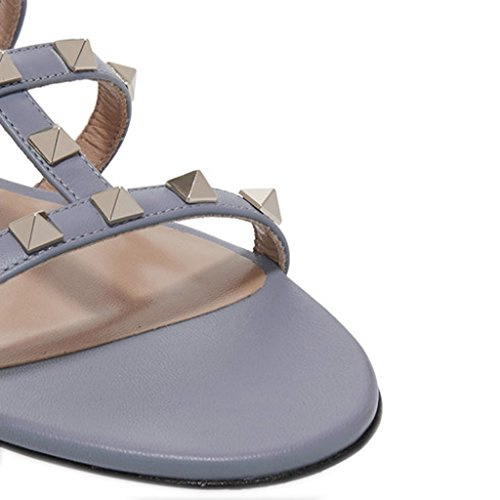 Comfity Muilezels Voor Vrouwen, Misstap Op Klinknagels Slides Rockstud Sandalen Backless Dress Slippers Lichtpaarse