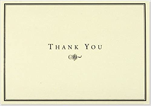 AmazonCom Black And Cream Thank You Cards  Peter