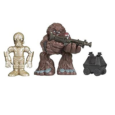 Star Wars 2009 Galactic Heroes 2-Pack Chewbacca and Death Star Droid with Mouse Droid