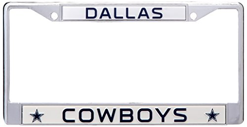 NFL Dallas Cowboys Chrome Licensed Plate - Stores Outlet Jersey New