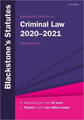 Blackstone's Statutes on Criminal Law 2020-2021 (Blackstone's Statute Series), 30th Edition - Original PDF