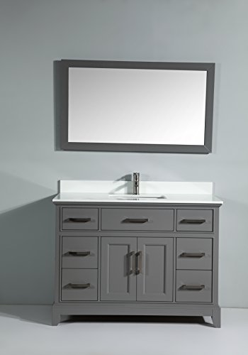 Vanity Art 60 Inch Bathroom Vanity Set with super White Phoenix Stone with Free Mirror VA1060-G - Phoenix Stone Set