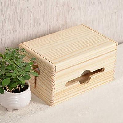 Organizador de la caja de administración de cables de madera ...