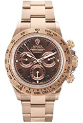 Rolex Daytona Chronograph Automatic Chocolate Dial 18kt Everose Gold Mens Watch 116505CHAO