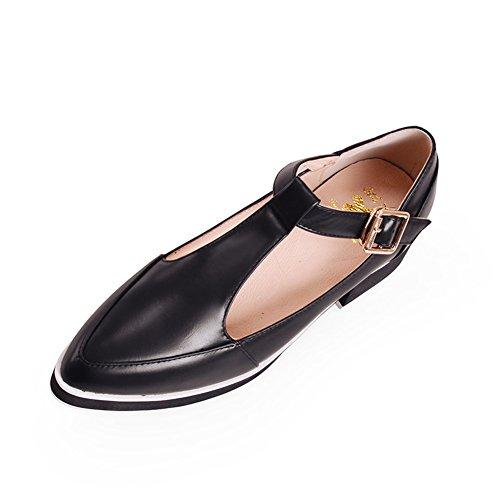 Correa hebilla puntiagudos zapatos de moda/ zapatos atractivos del partido con la palabra A