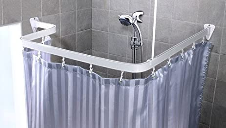 Shower Curtain Bar White 3 Meters Flexible Rod