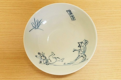 Imari Pottery Kozan-ji Temple Chōjū-Giga Animal Caricature Rabbit & Frog Japanese Plate by Imari