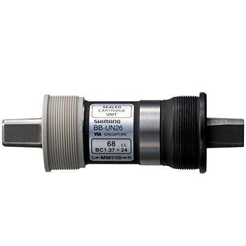 - Shimano Tapered Spindle Bicycle Bottom Bracket - UN26 (68 x 122.5MM(D-NL) - W/ FIXING BOLT)