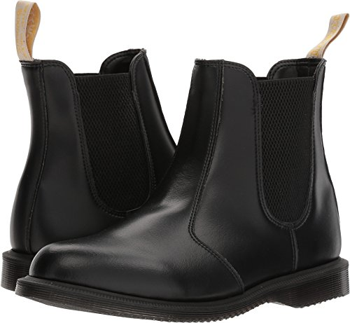 (Dr. Martens Women's Vegan Flora Black Ankle Boot, 6 Medium UK (8 US))
