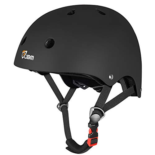 JBM Helmet for Multi-Sports Bike Cycling, Skateboarding, Scooter, BMX Biking, Two Wheel Electric Board and Other Sports [Impact Resistance] (Black, Adult)