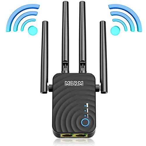 MSRM US754 Lonag Range Extender 1200Mbps WiFi Repeater Signal Amplifier Booster with 4 Band Antennas Complies 802.11a/b/n/g/ac WiFi Extender