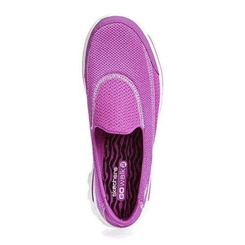 Skechers GO WALK 2, Zapatillas Deportivas Mujer, FUXIA