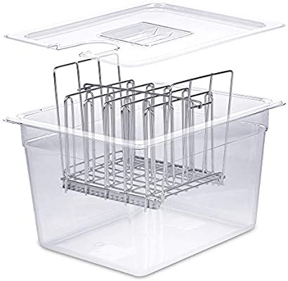 12 Qt /… Complete Accessories Kit For Anova or other Sous Vide Cooker Durable Polycarbonate Sous Vide Accessories ALCHEMY KITCHEN Sous Vide Container with Lid